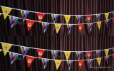 Custom Printing Bunting Triangle/Trilateral/Triangular String Flag Pennant