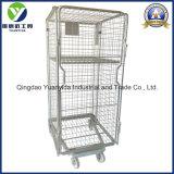 Foldable Zinc Plated Storage Laundry Roll Cart