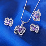 Xuping Luxury Jewelry Silver Color Butterfly Set (61598)