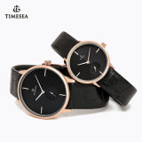 Leisure Quartz Hight Quality Wrist Watch with Genuine Leather 70027