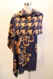 Lady Fashion Viscose Woven Jacquard Fringed Shawl (YKY4407)