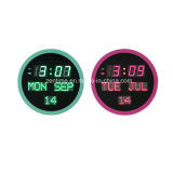 Electronic Round LED Digital Decorative Wall Calendar Clock