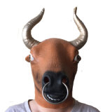Latex Full Head Overhead Animal Cospaly Masquerade Milk Cow Mask