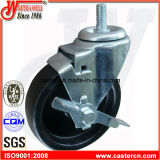 5 Inch Swivel PP Caster with Side Brake