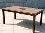 Patio Table with Removable Tiles Furniture