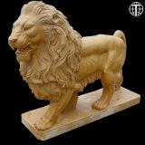 Hand Carved Marble Lion Statue Lion Sculpture for Garden Decoration