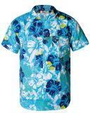 Men′s Short Sleeve Hawaiian Beach Shirt