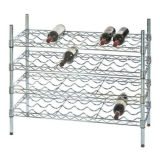 Hot Sale Adjustable 9 Bottles Metal Wire Creative Wine Rack Shelf