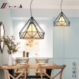 E27 60W Metal Polygonal Dining Room Pendant Light