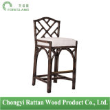 Natural Rattan Chinese Chippendale Barstool Bar Chair Stools