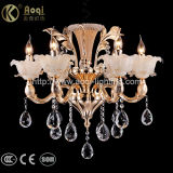 Prefect Golden Zinc Alloy Crystal Chandelier Light