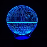 Star Wars Death Star 3D LED Night Light with Bluetooth Speaker
