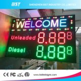 Outdoor LED Gas Price Sign with LED Moving Sign