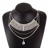 Fashion Rhinestone Crystal Pendant Multi Layer Collar Choker Necklace Jewellry Jewelry