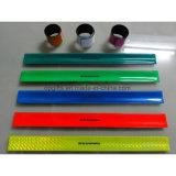 PVC Reflective Slap Wristband Snap Bracelet for promotional (WD12)