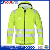 Waterproof Safety High Visibility Hi Vis PU Rain Jackets (YFG115)
