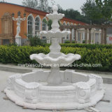 White Cararra Stone Sculpture Marble Fountain (SY-F113)