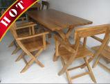 Chinese Oak Outdoor Wooden Garden Restaurant Dining Table Furniture
