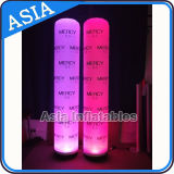 5m LED Lighting Inflatable Pillar with Custom Digital Printing with Rotatable Base Blower LED