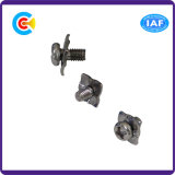 Stainless Steel M6 Cross/Phillips Pan Head Screw with Square Washer