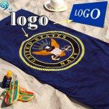 100% Cotton Velour Printed Brand Custom Logo Towel