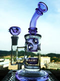 Male Joint Mini Purple Skull Egg Recycler Smoking Glass Pipe