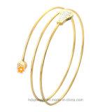 Newest Fashion Jewelry Tricyclic Bracelets Women Charm Stainless Steel Bangle