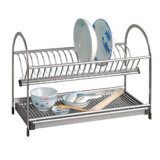 Stainless Steel Kitchenware Dish Holder Plate Drainer Rack (604)