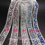 DIY Wedding Accessories Rhinestone Diamond Strip with Backing Glue for Heat Transfer Glue on or Sew on (TS-017)