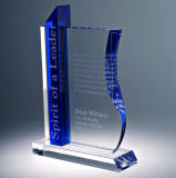 Quality Crystal Glass Book Shape Award Trophy for Souvenirs