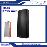 2* 15 Inch Audio Professional Loudspeaker Speaker Box (TK25 - TACT)