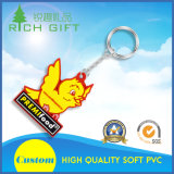Promotional Custom Fashion 3D Soft PVC Rubber Keychain for Advertising Souvenir Gifts