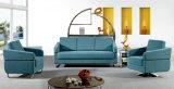 Modern Europe Design Steel Metal Leather Waiting Office Sofa (NS-D6316)