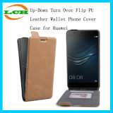 up-Down Turn Over Flip PU Leather Wallet Phone Cover Case for Huawei