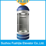 Good Quality Glass Sightseeing Panoramic Observation Passenger Villa Elevator with Vvvf Device