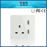 UK Style Standrad Wall Outlet Double USB Wall Socket UK