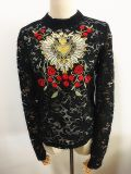 Fashion Garments Long Sleeve Lace Shirt Embroidery Clothes