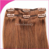 Clip in Human Remy Brown Hair/Human Hair Extension