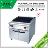 Gas Lava Rock Grill with Cabinet for Hotel & Restaurant Kitchen Equipment