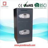 Depository Safe with 2 Door for Home, Solid Steel
