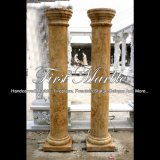 Golden Travertine Column for Home Decoration Mcol-309