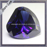 Big Size Heart Shape Tanzanite CZ Gemstone