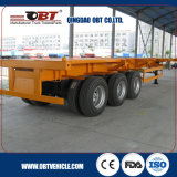Tri-Axle Container Skeletal Truck Semi Trailer with 60ton