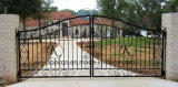 European Style Popular Wrought Iron Double Swing Gates