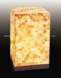 Little Square Natural Mother of Shell Table Lamp