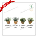 H10-18cm Plastic Hot Sale Mini Artificial Topiary Bouquet
