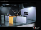 ISO Hangzhou Modern Lacquer MDF Linear Style Kitchen Cabinet