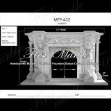 White Carrara Sculpture Fireplace for Home Furniture Mfp-432