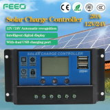 12V 24V 10 AMP 20A Solar Controller Battery PWM with USB Big LCD Display