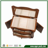 Deluxe Paint Style Wood Jewellery Storage Box with Mirror